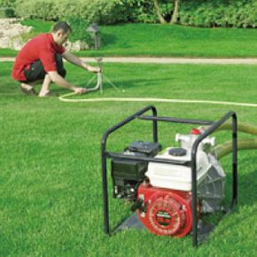 generator powering lawn irrigation